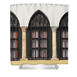 The 3 Windows Shower Curtain
