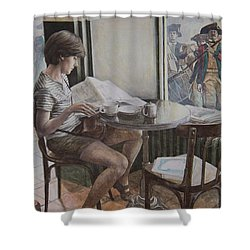 The 4th Of July Shower Curtain by Yvonne Wright