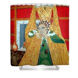 The 5th, Beheaded -- Tudor Portrait, Catherine Howard, #3 In Famous Flirts Series Shower Curtain