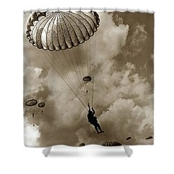 The 82nd Airborne  Hits The Silk Fort Ord 1953 Shower Curtain