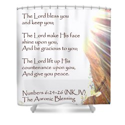 The Aaronic Blessing And True Light Lower Emerald Pools Zion Shower Curtain
