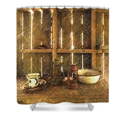 The Abandoned Cabin Shower Curtain