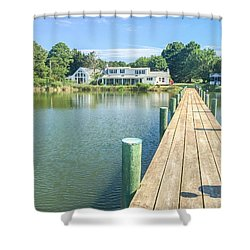 The Abbey On Cooper Point Shower Curtain