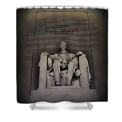 The Abraham Lincoln Memorial Shower Curtain by Bill Cannon