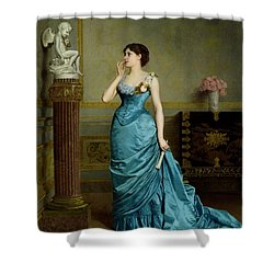 The Accomplice Shower Curtain by Auguste Maurice Cabuzel