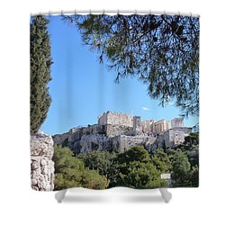 The Acropolis Shower Curtain