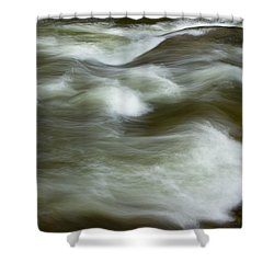 Shower Curtain featuring the photograph The Action On Top by Mike Eingle