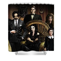 The Addams Family Shower Curtain
