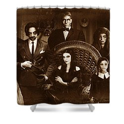 The Addams Family Sepia Version Shower Curtain