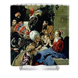 The Adoration Of The Kings Shower Curtain by Fray Juan Batista Maino