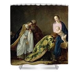 The Adoration Of The Magi Shower Curtain by Pieter Fransz de Grebber