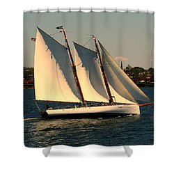 Shower Curtain featuring the photograph The Adrondack Newport by Tom Prendergast