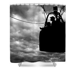 The Adventure Begins  Hot Air Balloon Shower Curtain by Bob Orsillo