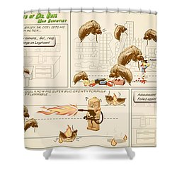 Shower Curtain featuring the photograph The Adventures Of Dr Ogel by Mark Fuller