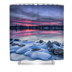 Shower Curtain featuring the photograph The Afterglow by Edward Kreis