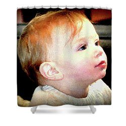 Shower Curtain featuring the photograph The Age Of Innocence by Barbara Dudley