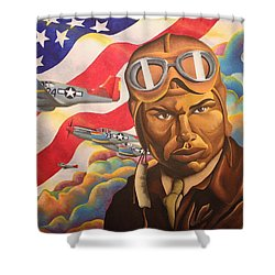 The Airman Shower Curtain
