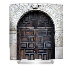 The Alamo Door Shower Curtain