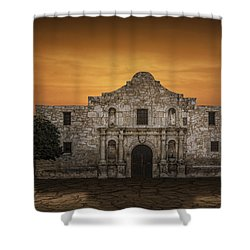 The Alamo Mission In San Antonio Shower Curtain by Randall Nyhof
