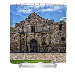The Alamo Shower Curtain by Robert Hebert