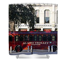 The Alamo Trolley Shower Curtain