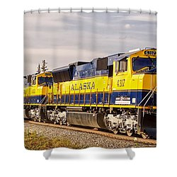 The Alaska Railroad Shower Curtain by Michael Rogers
