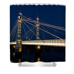 The Albert Bridge London Shower Curtain
