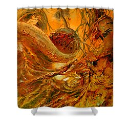Shower Curtain featuring the painting The Alchemist by Henryk Gorecki
