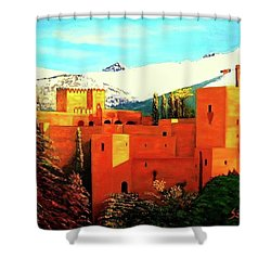 The Alhambra Of Granada Shower Curtain