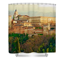 The Alhambra  Shower Curtain by Rita Mueller