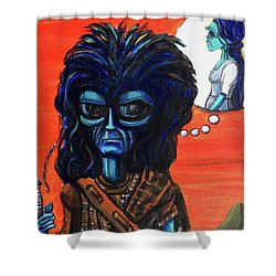 The Alien Braveheart Shower Curtain