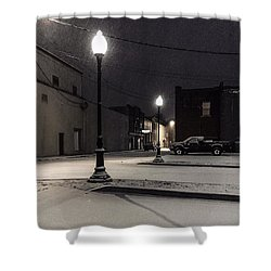 Shower Curtain featuring the photograph The Alley by Kendall McKernon