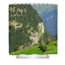 The Alps In Spring Shower Curtain