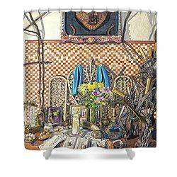 The Altar Shower Curtain by Bonnie Siracusa