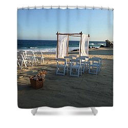 The Alter By The Sea Shower Curtain
