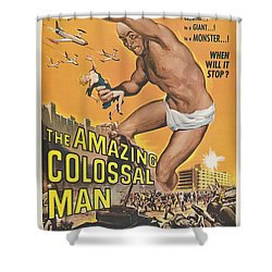 The Amazing Colossal Man Movie Poster Shower Curtain