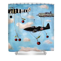 The Amazing Race 5 Shower Curtain by Leah Saulnier The Painting Maniac