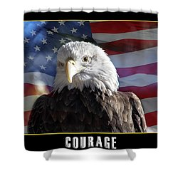 The American Bald Eagle Shower Curtain