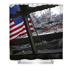 The American Flag Is Prominent Amongst Shower Curtain by Stocktrek Images