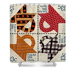 The American Quilts  Shower Curtain