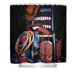 The American West Shower Curtain by Tom Mc Nemar