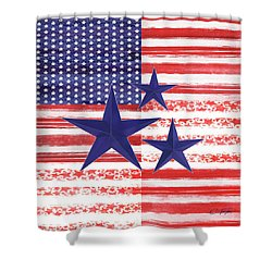 Shower Curtain featuring the photograph The Americana Flag by Colleen Taylor