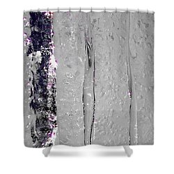 The Wall Of Amethyst Ice  Shower Curtain by Jennifer Lake
