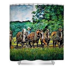 The Amish Team Shower Curtain