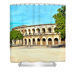 The Amphitheatre Nimes Shower Curtain