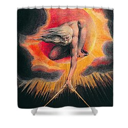 The Ancient Of Days Shower Curtain by William Blake