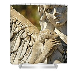 The Angel At St. Thomas Shower Curtain by Lynn Jordan