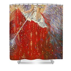 The Angel Of Life Shower Curtain by Annael Anelia Pavlova