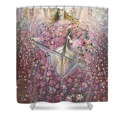 The Angel Of Love Shower Curtain by Annael Anelia Pavlova