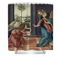 The Annunciation After Botticelli Shower Curtain